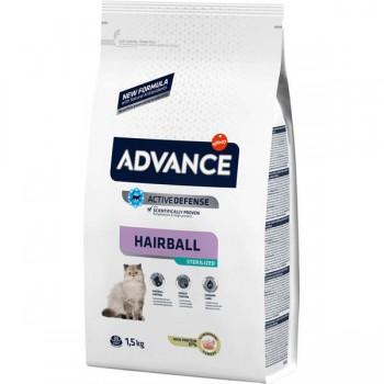 Advance Hindili Kısırılaştırılmış Hairball Kedi Maması 1,5 KG
