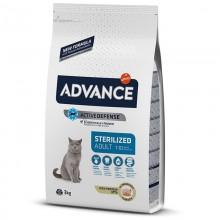 Advance Hindili Kısırlaştırılmış Kedi Maması 3 KG