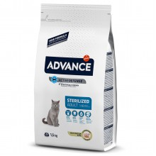 Advance Hindili Kısırlaştırılmış Kedi Maması 1,5 KG